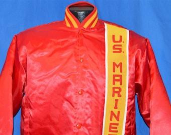 90s USMC United States Marine Corp Satin Jacket Small