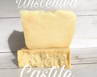 Organic Castile Soap- vegan soap, unscented soap, olive oil soap, sensitive skin soap, coconut oil free soap, handmade soap, organic soap