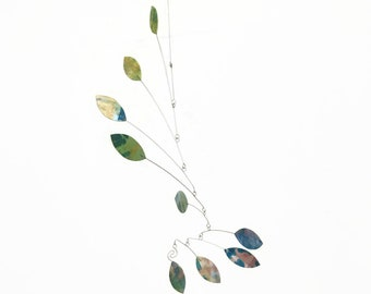 Hand Painted Leaf Style Mobile READY TO SHIP This Mobile Would Look Wonderful In Any Entry Way - Calder Inspired Baby Mobile