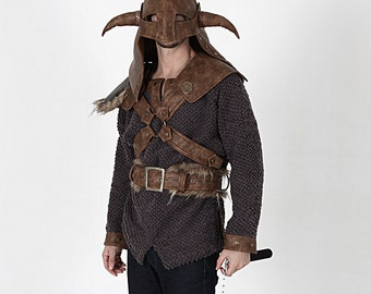 Viking Hoodie-Viking Helmet- Viking Costume Hoodie-Halloween Costume-Viking Hat-Medieval Clothing-Cosplay/Erik the Red Hoodie