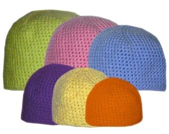 Family Beanie Set (6 Sizes) - PDF Crochet Pattern - Instant Download