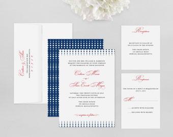Wedding Invitation Modern Sample - Crescendo - Wedding Invitation, Modern Wedding Invitation, Modern Wedding Invitations
