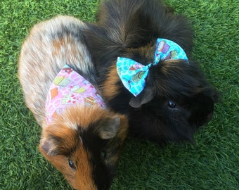 Cupcakes bandana or bow for bunny rabbits, guinea pigs, small pets