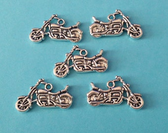 5 Antiqued Silver Motorcycle Charm| The Walking Dead | Daryl Dixon's Motorcycle | 2092