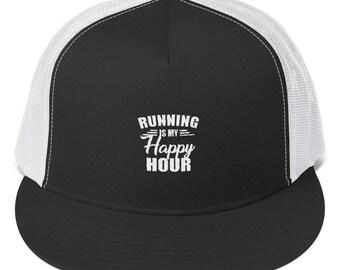 Running is my Happy Hour - Trucker Cap