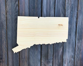CUSTOMIZABLE Connecticut, State of Connecticut Wood Decor, Rustic State Home Decor, Wedding Housewarming Gift State, Other Sizes Available