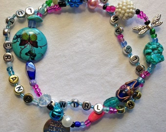 Flutter and Twirl and Fly Awy -- Inspirational anklet
