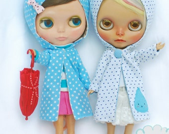 Patterns and English Instructions of Reversible Raincoat for Blythe Doll