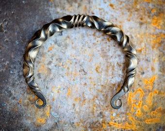 Viking arm ring | Viking steel bracelet | mens bracelet | mens arm band | Viking jewelry | pagan arm band | forged metal | OOAK Uruz Metals