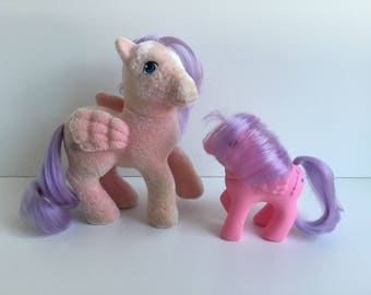 G1 My Little Pony NORTH STAR & BABY: Pegasus Ponies