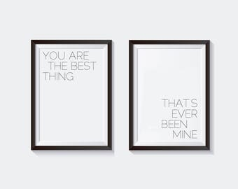 Taylor Swift Nursery Printable Wall Art, Mine, You are the best thing that's ever been mine, Nursery Decor, Typography printable, Wall Art