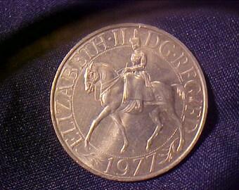 1977 Elizabeth II Commemortive 25 th. Aniversity Silver Jubilee Crown Coin/Medal
