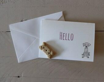 Custom Dog Stationary, Dog Greeting Card, Thank You Card, Congrats Card, Hello Card, Happy Birthday Card