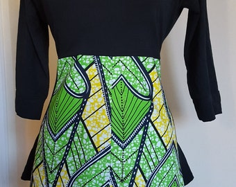 African wax and jersey sweater