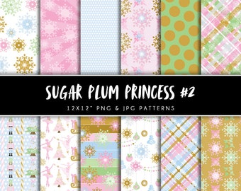 Nutcracker kit etsy sugar plum princess digital papers 2 personal commercial use winter ballet christmas solutioingenieria Image collections