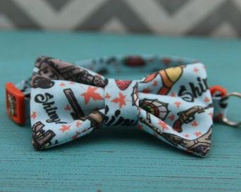 Cat Bow Tie Collar - Shiny! - Breakaway w/ Bell