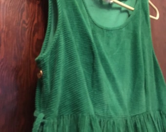 Green Corduroy Dress