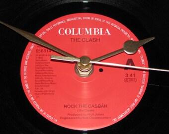 "The Clash rock the casbah 7"" vinyl record clock"