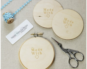 3 inch Wooden Backs For finishing Embroidery Hoops. Pack of 3 Embroidery Hoop Backs. Embroidery Hoop Art. Embroidery Hoop Finishing Tutorial
