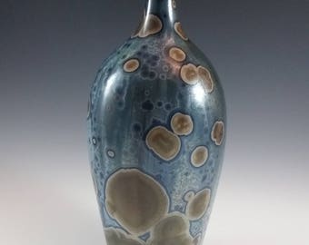 Blue Crystalline Enamel Bottle