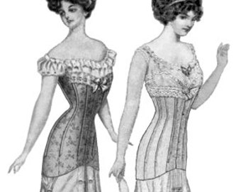 TVE13: Truly Victorian Ladies 1913 Late Edwardian Corset Pattern