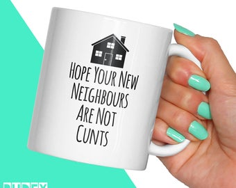 Rude Housewarming Gift - New Home Mug | Funny Gift Mugs | Gift For New House | Cool Coffee Mug | Home Apartement Gifts | RudeyDudey