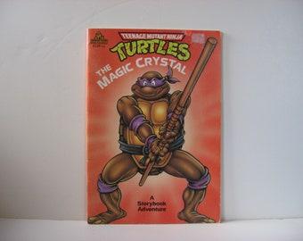 Vintage Teenage Mutant Ninja Turtles 1900 The Magic Crystal Book