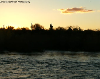 Sunset beyond the Saltriver