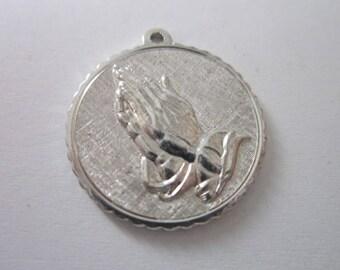 Vintage Silver Serenity Prayer Charm Bracelet Charm