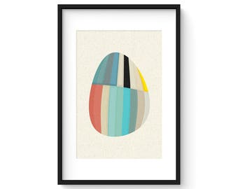 MODULE no.1 - Giclee Print - Mid Century Modern Danish Modern Style Minimalist Modernist Eames Abstract