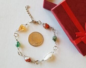 Natural stone beads bracelet, Chakra bracelet, Healing bracelet, Natural bracelet, Christmas gift.