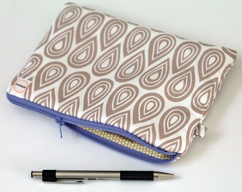 Padded zipper pouch, cash envelope, Pencil case journaling bible, Small makeup Gadget bag, Bridesmaid clutch, journal supply bag cosmetic