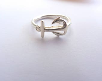 Stering Silver Solid Anchor Ring