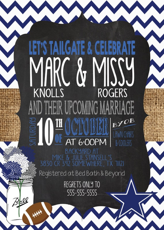 Tailgate Engagement Party Invitation