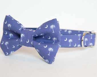 South Carolina Dog Bow Tie Collar in Blue