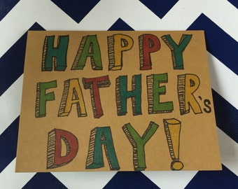 Father's Day card, handmade