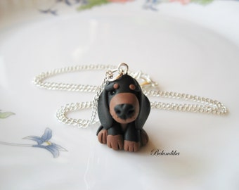 Dachshund necklace,3 colors available,polymer clay,Dachshund,dog