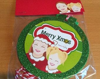 Custom Portrait Christmas Ornament Gift Tag