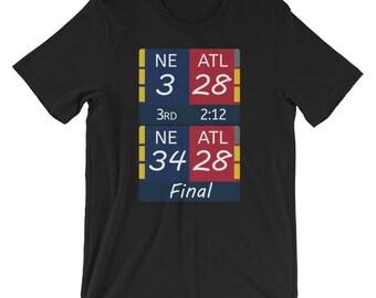 New England Patriots 3 Atlanta Falcons 28 NFL Super BowlT-Shirt
