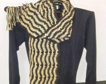 Handmade alpaca scarf