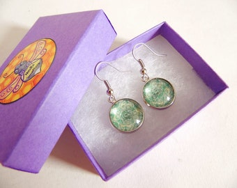 Glass Pattern Earrings