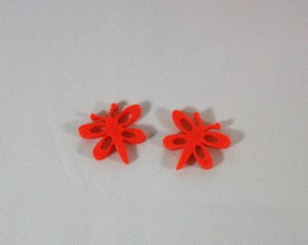 Embellishments/applique/subjects felt orange Butterfly