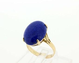 14K Lapis Ring