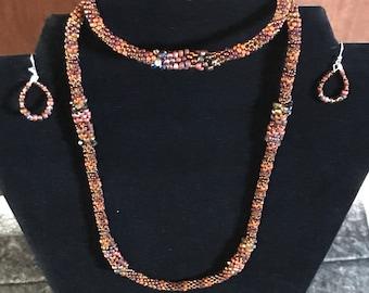 Kumihimo jewelry set