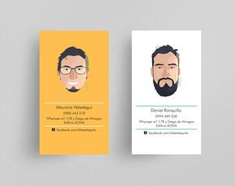 Custom business card etsy custom business card portrait illustration business card design caricature business card professional personalized colourmoves