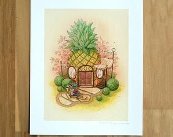Pineapple House - Fine Art Print by Nicole Gustafsson