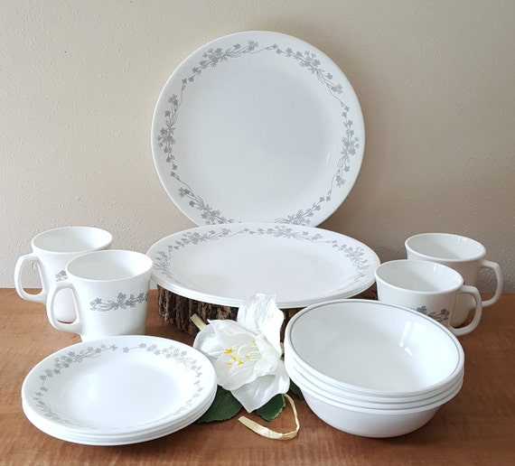 Corelle Ribbon Bouquet Corelle Dinnerware 16 Piece Set for 4