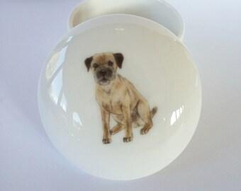 Border Terrier Trinket Box