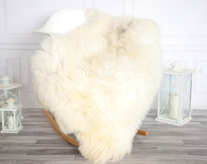 Sheepskin Rug | Real Sheepskin Rug | Shaggy Rug | Sheepskin Throw | Super Large Sheepskin Rug Beige | Home Decor | #HERMAJ85