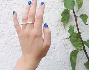 Double Finger Ring in Silver - sterling silver two finger ring - sterling silver double finger ring - comfortable double finger ring